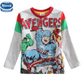 retail 5 different size baby boy long sleeve t shirt printed cartoon t shirt baby by clothes children clothing New style A5206