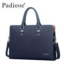 Padieoe Luxus Marke Echte echtem Rindsleder Messenger Taschen Business Männer Aktentaschen Handtaschen Männer Totes Casual Männlichen Tasche Schulter
