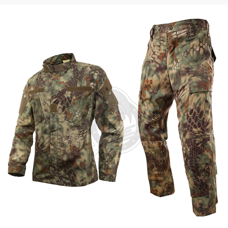 Fishing vest Jungle python pattern camouflage suits military fans male special forces combat uniforms CS training fishing suit