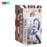 OSPON New Book Safe Box Metal Steel Cash Secure Hidden Dictionary Booksafe Homesafe Money Box Coin