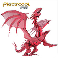 2016 Limited Edition Piececool 3D Metal Puzzle Dragon Flame P071 RS DIY 3D Metal Puzzle Kits
