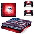 Nfl new england patriots decalque adesivo de pele para sony ps4 ps4 consola playstation 4 e 2 controladores adesivos