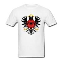 Hip Hop Tshirts Male Custom Cotton Short Sleeve Royal Coat Of Arms Of Albania Team Tops