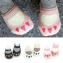 Coral Velvet Toddler Baby Kids Girls Cute Non-slip Slipper Socks Soft Warm Coral Velvet Warmers Socks 0-4Y