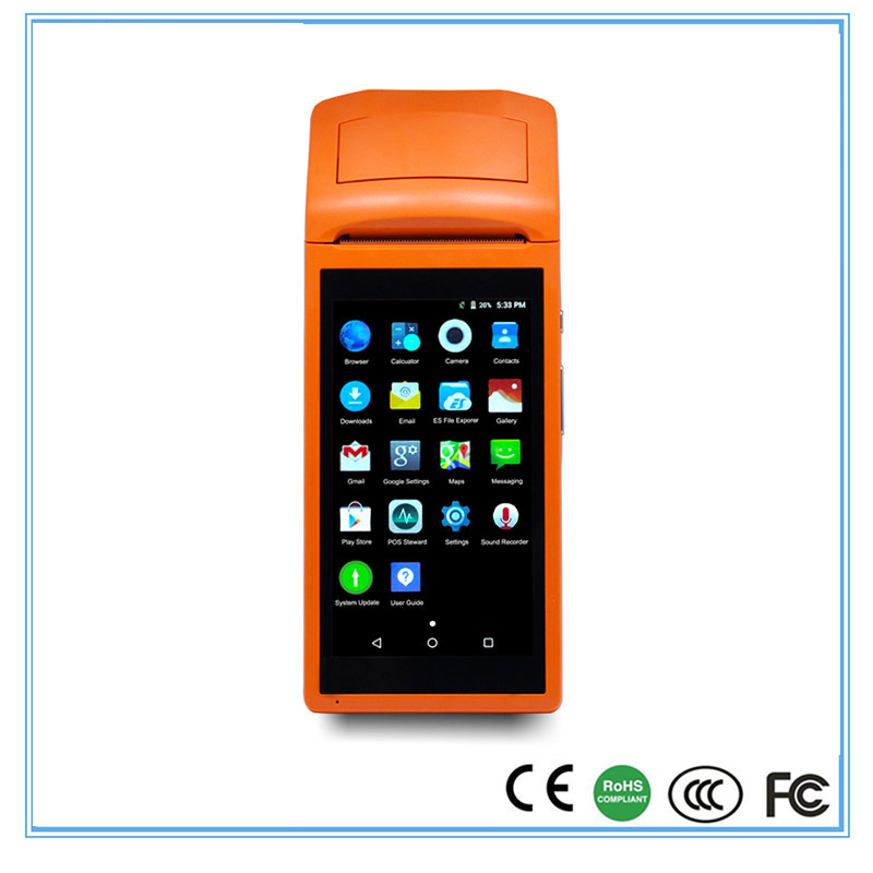 Imprimante portative sans fil de reçu pour le restaurant avec le bluetooth de wifi et la position 58 de SUNMI-V1 de machine de position d'écran tactile de GPRS