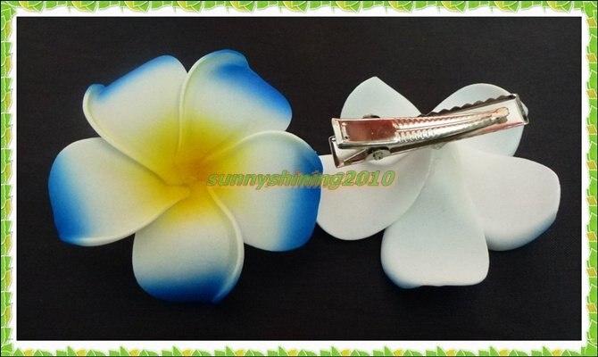 50 cor azul Espuma Havaiano Plumeria Frangipani