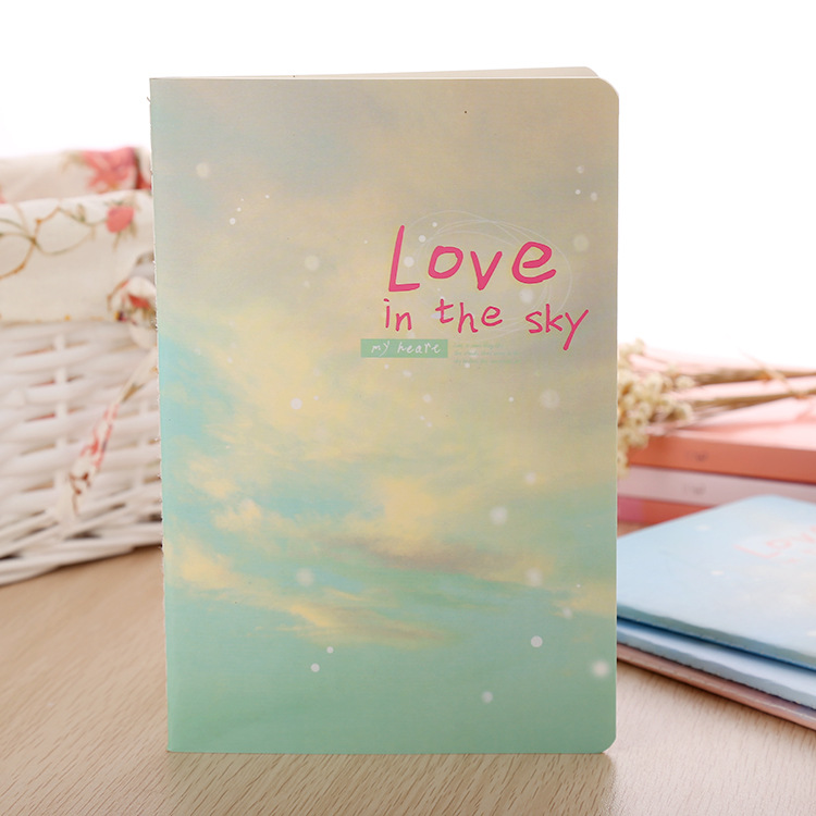 Korea Stationery Cute Kawaii Notebook School Supplies Agenda Binder Writing Pads Personal Diary Staionary Sketchbook Love Sky от Aliexpress INT