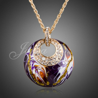 Cheap Wholesale 18k Gold Plated Rhinestone Jewelry Christmas Necklace XN020