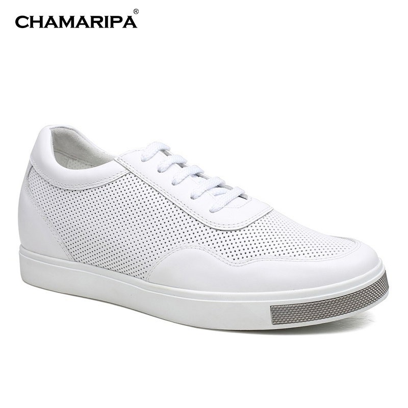 CHAMARIPA Increase Height 6 cm/2.36 inch Height Increasing Casual High Heel Lift Shoes Tall Men Shoes White Elevator Shoes mantra офисная looker 3615