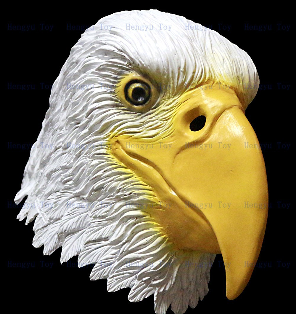 Newly Eagle Mask Head Deluxe Quality Adult Overhead Latex Animal ...