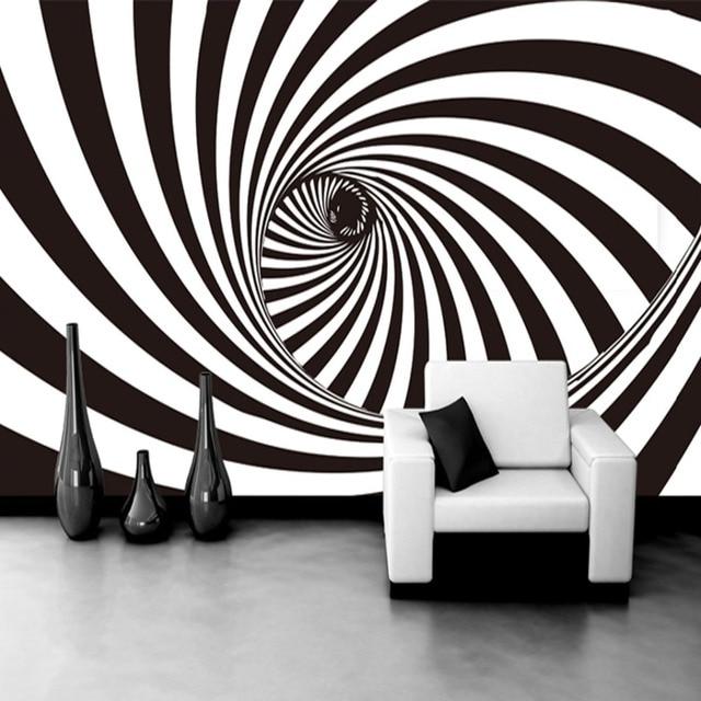 Modern Strip 3d Stereo Rotation Damp Photo Wallpaper Office Living