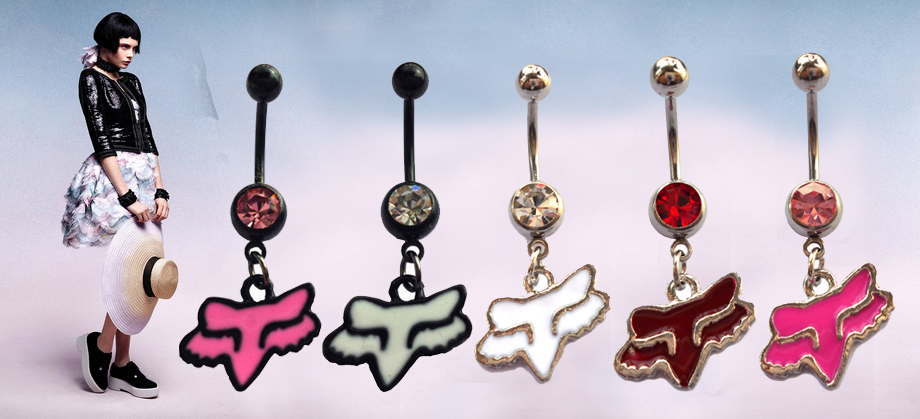 Fox Body Jewelry Piercing Wholesale Stainless Steel 4pcs Dangle