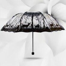 2016 neue Mode transparente dach regen frauen dreifache transparent regenschirme starke paraguas transparente parapluie, S2084