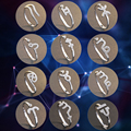Регулируемая Открытое Кольцо Ювелирные Изделия 12 Зодиакальных Знаков Зодиака Гороскоп Созвездие Shaped Стерлингового Серебра 925 Кольца для Женщин (DK239)