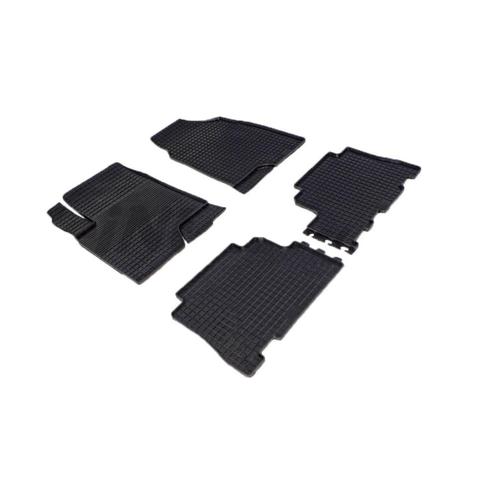 For Opel Antara 2006-2015 rubber grid floor mats into saloon 4 pcs/set Seintex 00325 цена и фото
