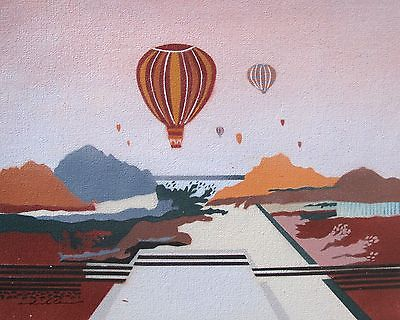 Hot Air Balloon Oil Art Painting On Canvas Oil Paintings Art Deco ...
