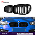 Dual-slat F20 LCI M Sport Style black car styling racing grille for BMW 1 Series F21 2015+ 116d 118i 120d 120i M135i Replacement