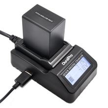 DuraPro NP-FV100 NPFV100 FV100 Battery + LCD Fast Charger for Sony DCR-DVD103 XR100 HDR-XR550/E HDR-XR350/E HDR-XR150/E