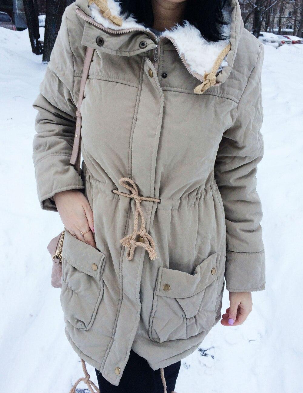 New Autumn Winter Jacket Coat Women Parka Woman Clothes Solid Long Jacket Slim Plus Size Women
