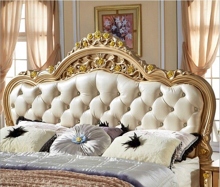 Estilo francés de oro de cama de color 318 en Camas de Muebles en ...