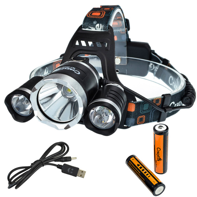 CrazyFire 6000 Lumens LED Headlamp 3 x CREE XM-L T6 Camping Lantern Fishing Lamp Hunting Light Cycling Head Light Flash Light