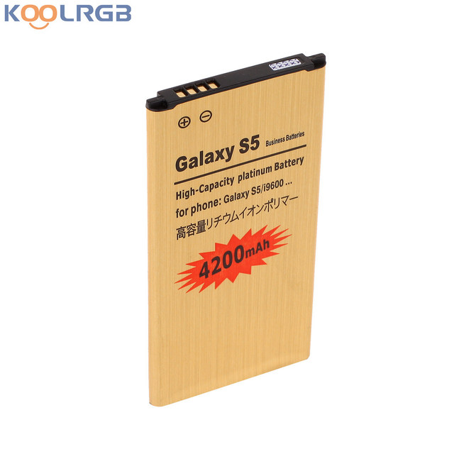 GOLD Premium For Samsung Galaxy S5 SM-G900V Battery EB-BG900BBU EB-BG900BBE High Capacity 4350 mAh