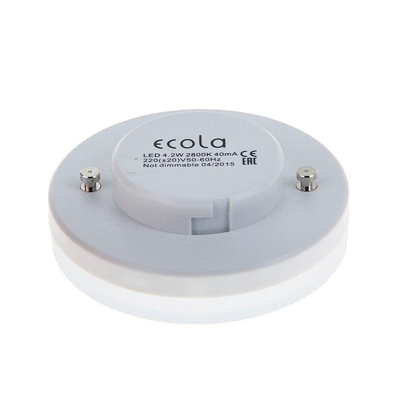LED lamp bulb spotlight GX53 4,2W 6W 8W 11,5W Ecola from Russia 220V replace 40W 60W 80W 100W 2 years Warranty - 2