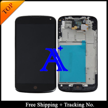 Free Shipping + Tracking No. + Tools 100% tested  For LG Google Nexus 4 E960 LCD Touch Screen Assembly Frame – White/Black