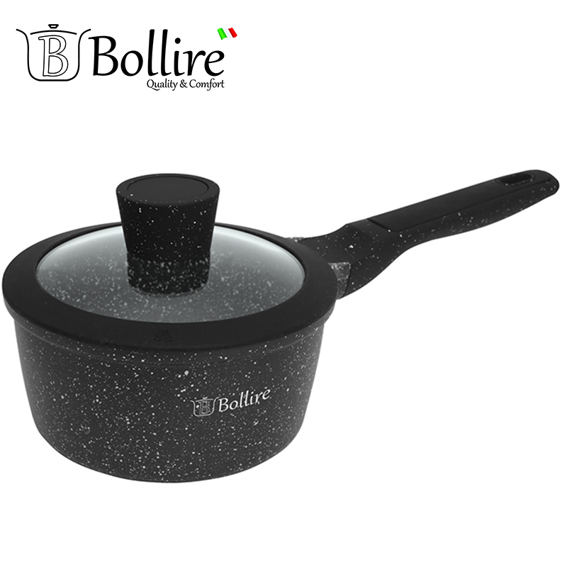 BR-1101 Ladle Bollire MILANO 1.4L 16cm Casserole cast aluminum FULL INDUCTION BOTTOM Suitable for all types of plates