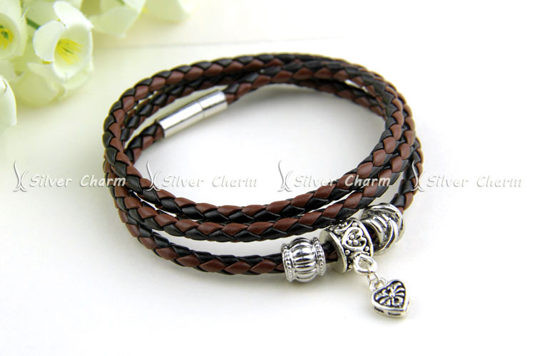 Newest Arrival Silver Charm Black Leather Bracelet for Women Five Colors Magnet Clasp Christmas Gift Jewelry PI0311 UT8XBOzXhdbXXagOFbXS