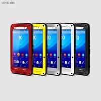 LIEFDE MEI Voor Sony Xperia Z3 Case Luxe Hard Aluminium Siliconen Telefoon Case voor Sony Z1 Z2 Z4 Z5 Premium Z5 Compact M5 Case Cover