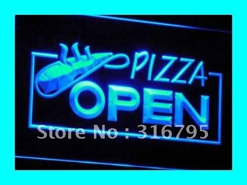 i026 OPEN Pizza Restaurant Displays LED Neon Light Signs On/Off Switch 7 Colors