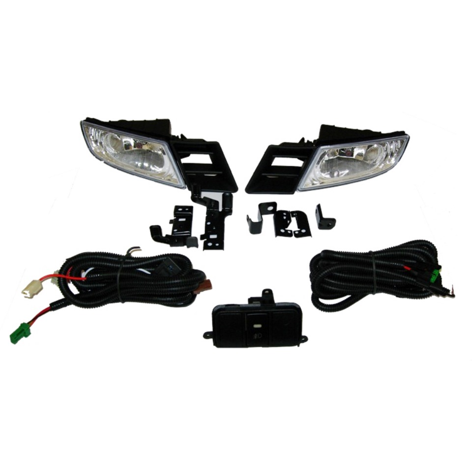 Fog lights kit for Honda Civic 4D 2006 2007 2008 with wires and button (DLAA HD159)
