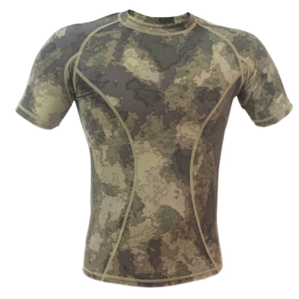 ATACS quick-dry Short sleeve Tactical shirt lightweight tight compression shirt ...