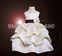 бесплатная доставка на праздник платья для девочек цветок платье принцессы девушка белый