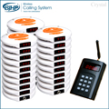 1 transmitter 30 pagers 3 charger China New Model Best Price Guest Paging System Restaurant Coaster Pagers CE &ROHS