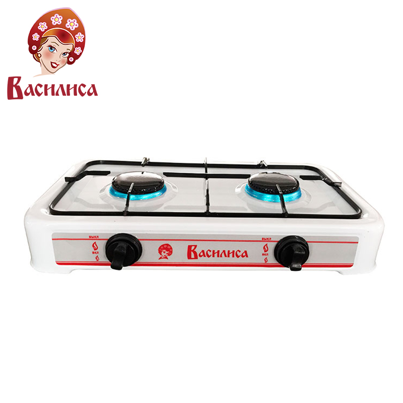 VASILISA GP2-1080 Gas stove burner table tile tiles cooktop household portable cooker hot plates 1080W metal material outdoor portable stainless steel butane gas stove silver red