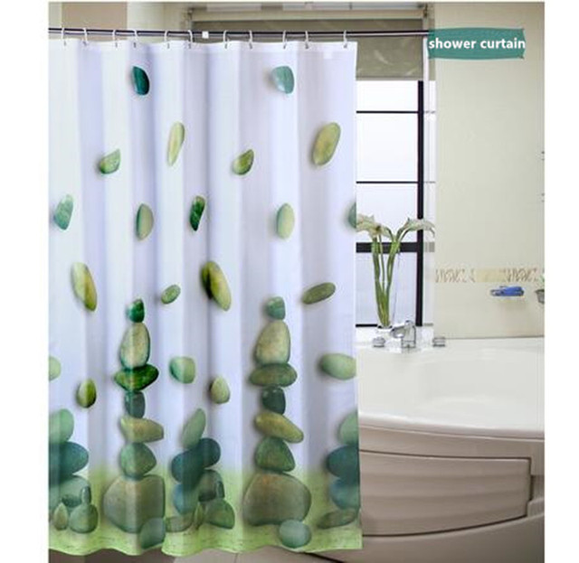 shower curtains bathroom curtain polyester lavatory room use ...