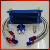 специальное предложение 10an алюминий двигатели для автомобиля 7 ряд масляный радиатор комплект с масляный фильтр переселение комплект + плетеный нержавеющая сталь топлива выхлопные трубы для автомобиля