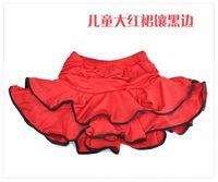 бесплатная доставка nerve производители высокое качество, низкая прибыль! ребенок латинской выполнять юбка 6 ~ 13 т дети девушка одежды Scenic бал платье