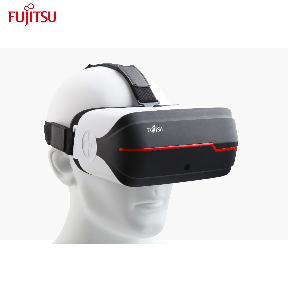 Fujitsu Virtual Video Glasses 5.5 Inch Screen VR Headset Supporting 2D 3D Panoramic and 360 Degree Panoramic Viewing Experience