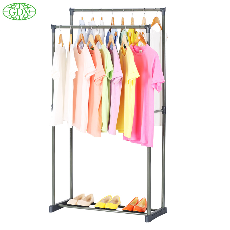 GDX 2pc In 1Lot Modern European Multi-functional Garment Rack Closet  Organizer Clothes Hanger Wardrobe Shelf Dress Organizador