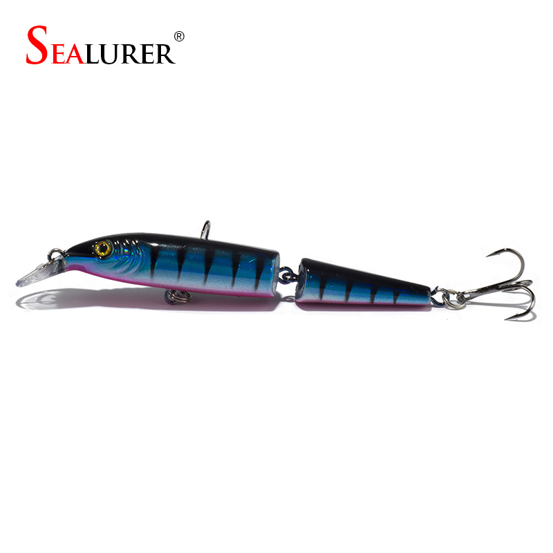 Sealurer Fishing Lure Trout Lure Swim Bait 2 Section Minnow Fishing - Memancing