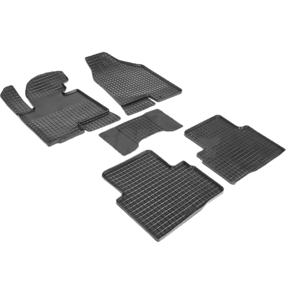 цена на Rubber grid floor mats for Kia Sportage III 2010 2011 2012 2013 2014 2015 Seintex 82888