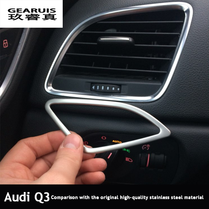 car air conditioning vent decorative frame cover trim dashboard air outlet chrome stainless. Black Bedroom Furniture Sets. Home Design Ideas
