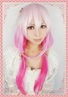 виновный yuzuriha инори розовый смешать цвет косплей ну вечеринку парик l38