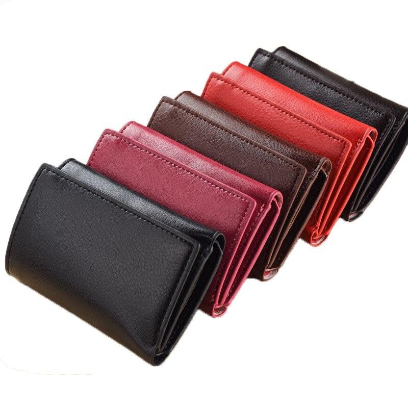 2016 Unisex Korean Fashion 3 Fold Short Wallets Ladies Small Wallet Hasp Roomy Coin Purse Female