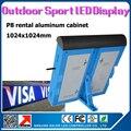 Специальный прокат снаряжения из светодиодов P8 открытый SMD RGB полноцветный алюминиевый прокат из светодиодов витрины 1024 x 1024 мм