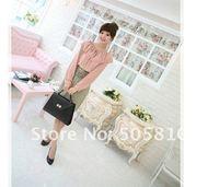 бесплатная доставка, корея горячая распродажа мода новая женская женщины изящные выдалбливают повар полный рукав тонкий блузки # 0532