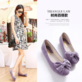 Ladies Loafers Flats Shoes Woman Shoes Leather Cute Bow Hight Quality Flat With Shoes Women's Shoe Ballet Flats